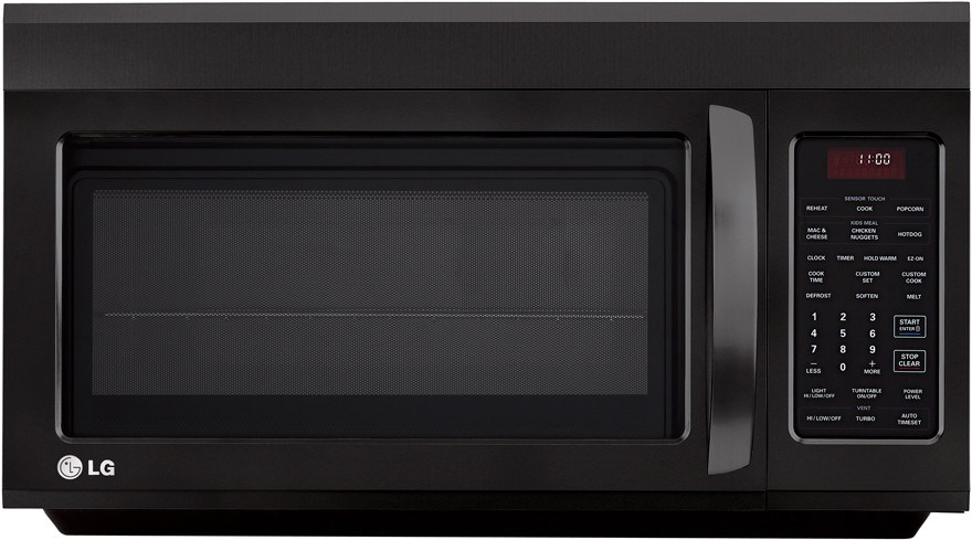 Lg Lmv1813sb 1 8 Cu Ft Over The Range Microwave With 400