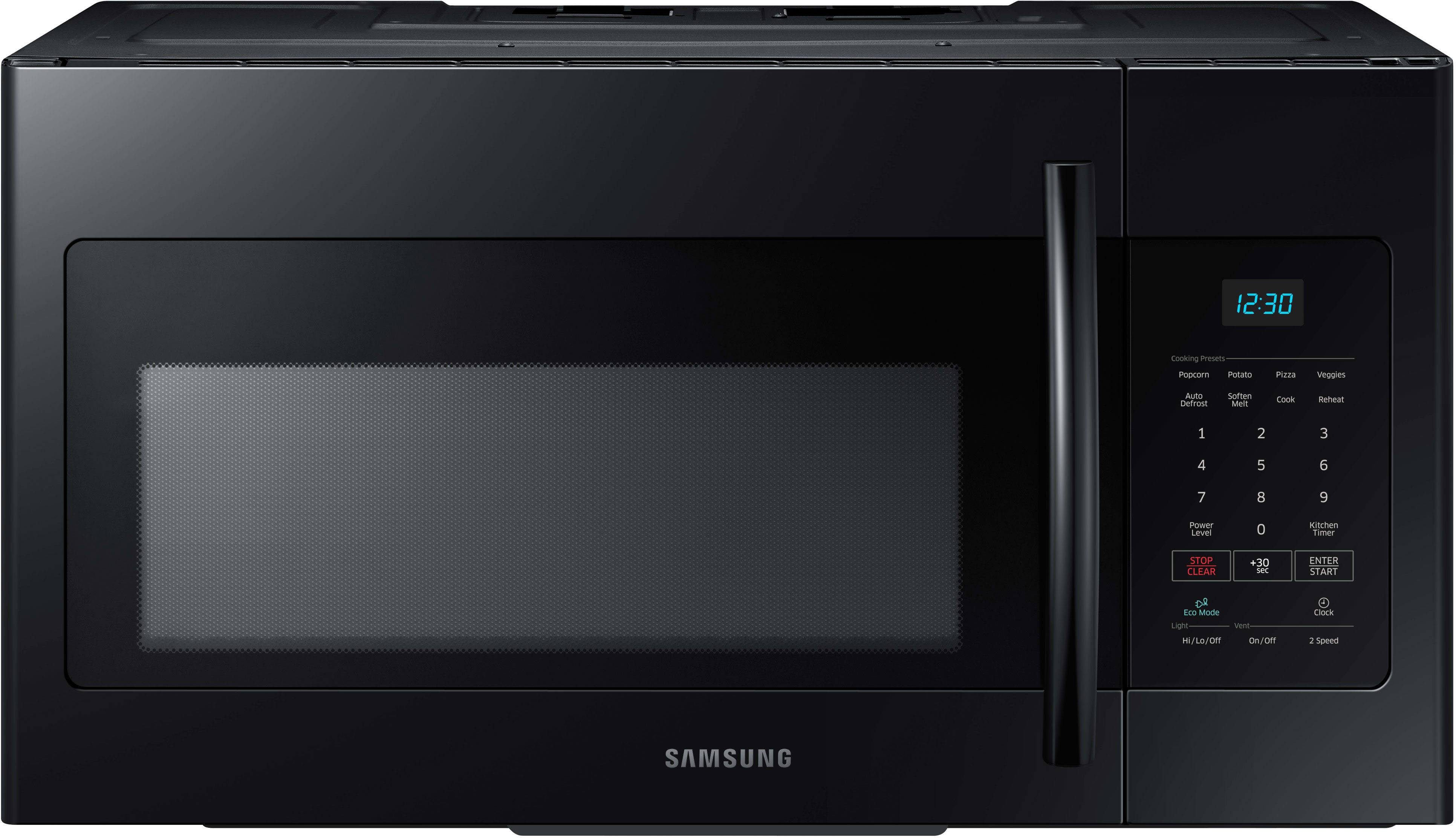 Samsung Me16h702seb 1 6 Cu Ft Over The Range Microwave