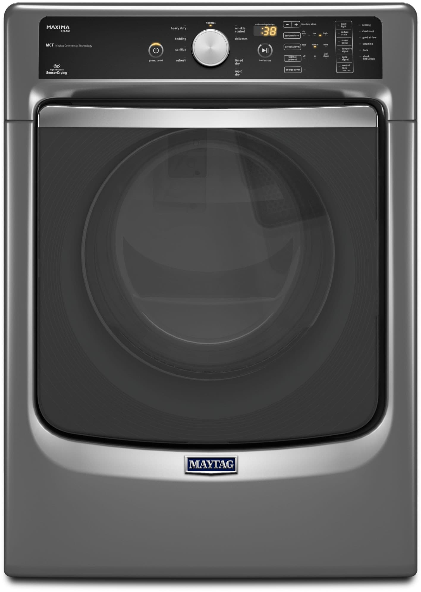 Maytag MED7100DC 27 Inch 7 4 cu ft Electric Dryer with 9 Drying