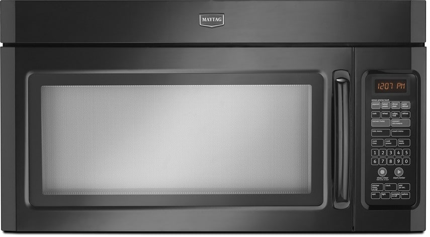 Maytag Mmv6180wb 1 8 Cu Ft Over The Range Microwave With 1100 Watts Five Speed 300 Cfm