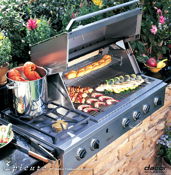 Dacor OBS52LP 52 Inch Built-in Gas Grill With 2-20,000 BTU