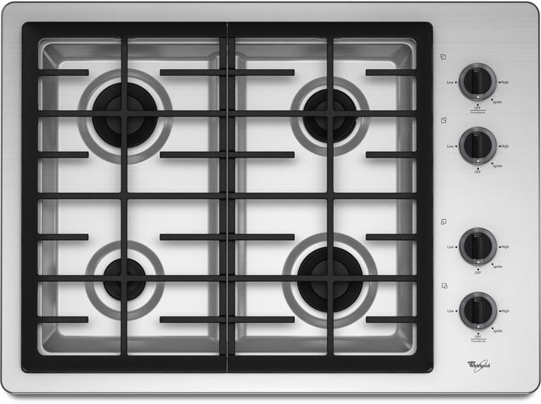 Whirlpool W5cg3024xs 30 Inch Gas Cooktop With 4 Sealed