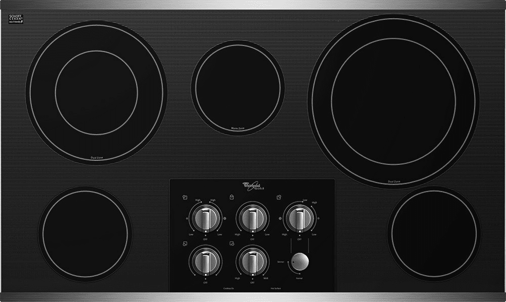 Whirlpool G7ce3635xs 36 Inch Smoothtop Electric Cooktop