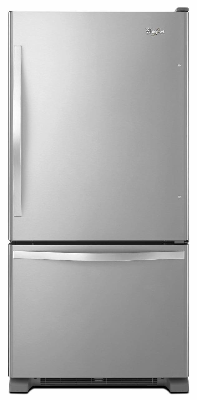 whirlpool wrb329dmb 30 inch with 185 cu ft capacity 5 spillguard glass shelves humidity controlled crispers