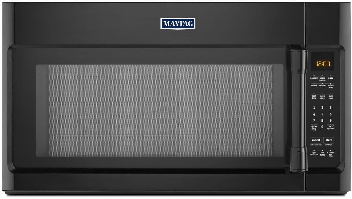 Maytag Mmv4205db 2 0 Cu Ft Over The Range Microwave Oven With 1000 Watts 400 Cfm Venting