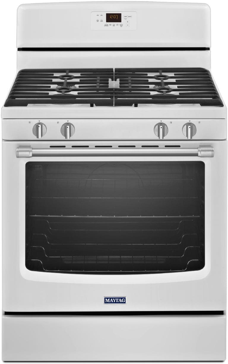 Maytag mgr8600dh 30 inch freestanding gas range with 4 sealed burners 5 8 cu ft precision - Clean gas range keep looking new ...