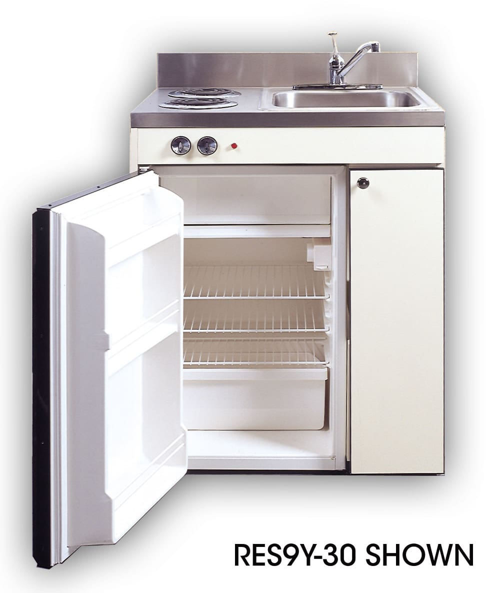 Acme RES9Y39 Compact Kitchen with Sink, Compact Refrigerator and ...