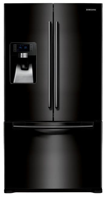 samsung rfg237aabp 23 cu ft counter depth french door refrigerator with twin cooling system. Black Bedroom Furniture Sets. Home Design Ideas