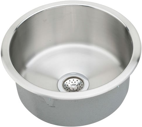 Elkay Rlr12fb 14 Inch Top Mount Round Bowl Stainless Steel