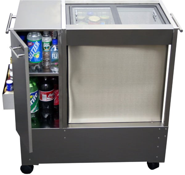Summit Rpc07 39 Inch Portable Outdoor Beverage Cart With 1