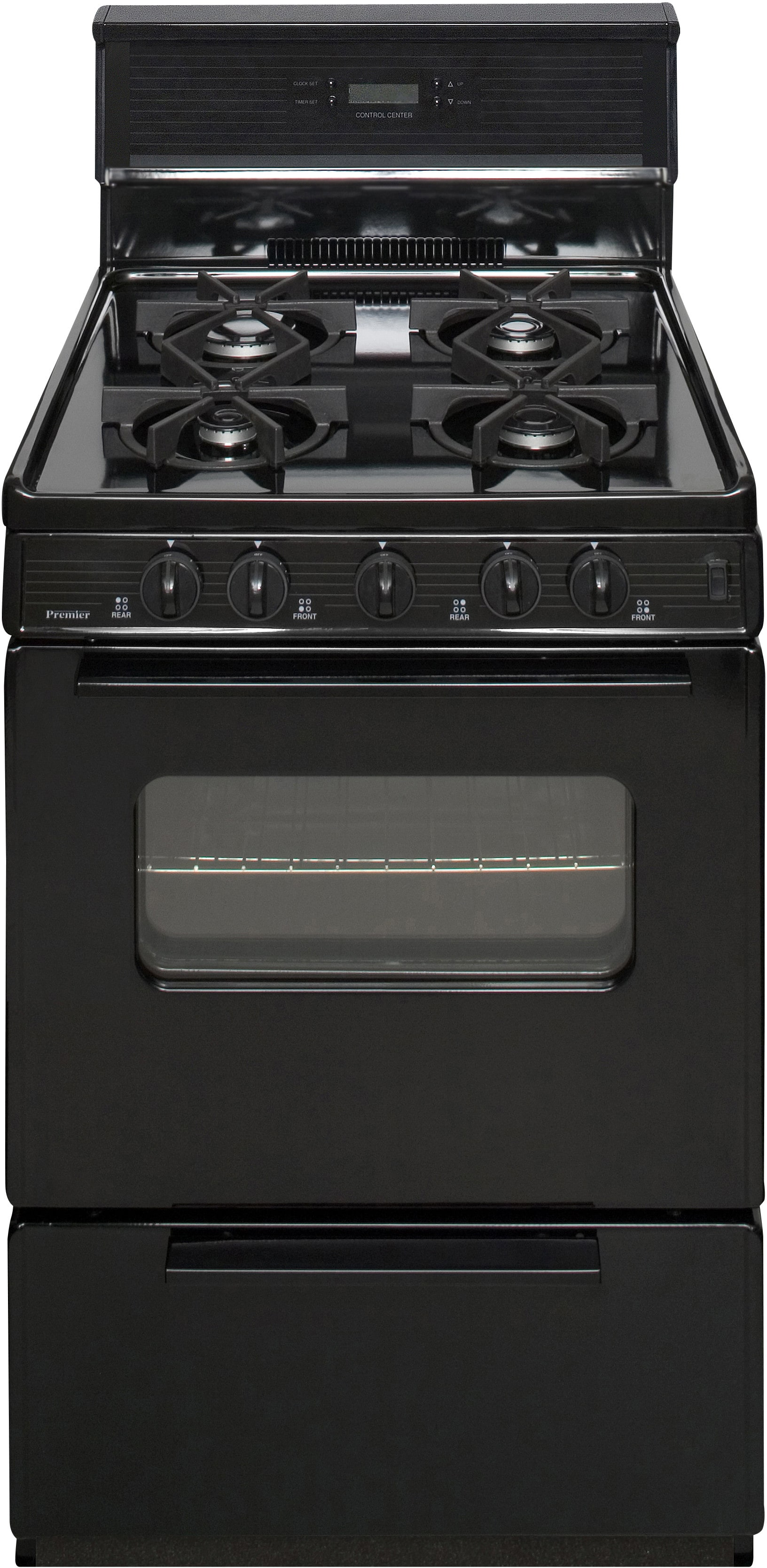 Uncategorized Premier Range Kitchen Appliances premier sjk240bp 24 inch freestanding gas range with 4 sealed burners electronic ignition 17000 btu oven burner clock