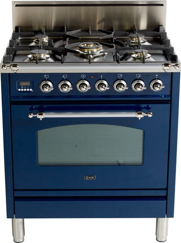 Ilve Upn76dvggbl 30 Inch Professional Style Gas Range With