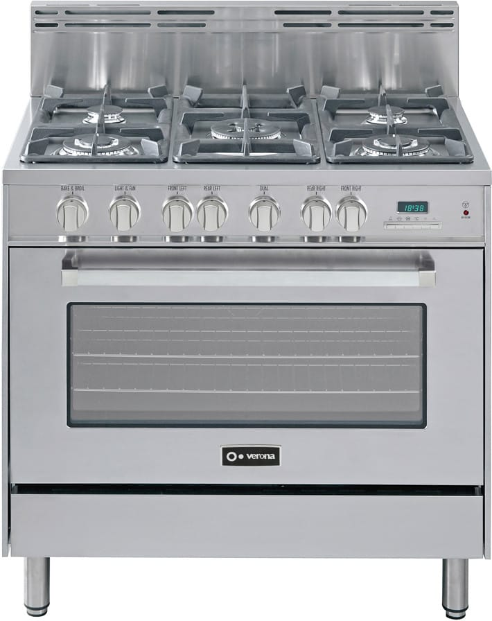 Verona Vefsge365ss 36 Inch Pro Style Dual Fuel Range With
