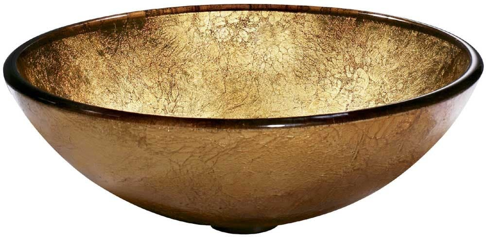 Vigo Industries VG07026   Liquid Gold Glass Vessel Sink ...