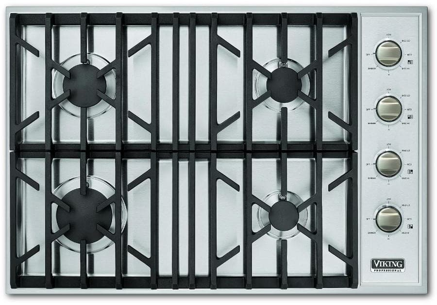 Viking VGSU1044BSS 30 Inch Gas Cooktop with 4 Sealed Burners Brass