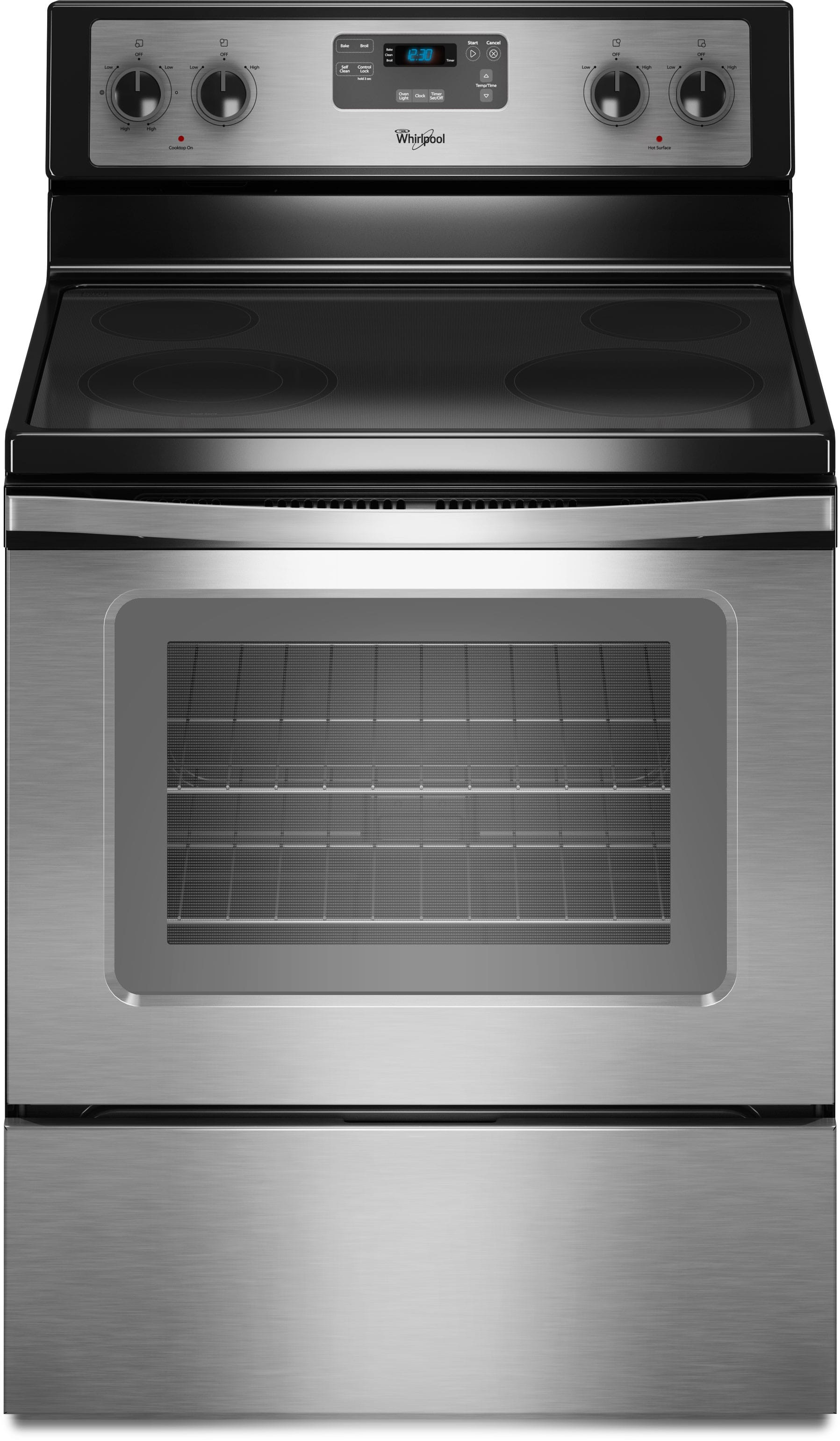 Whirlpool Wfe510s0as 30 Inch Freestanding Electric Range