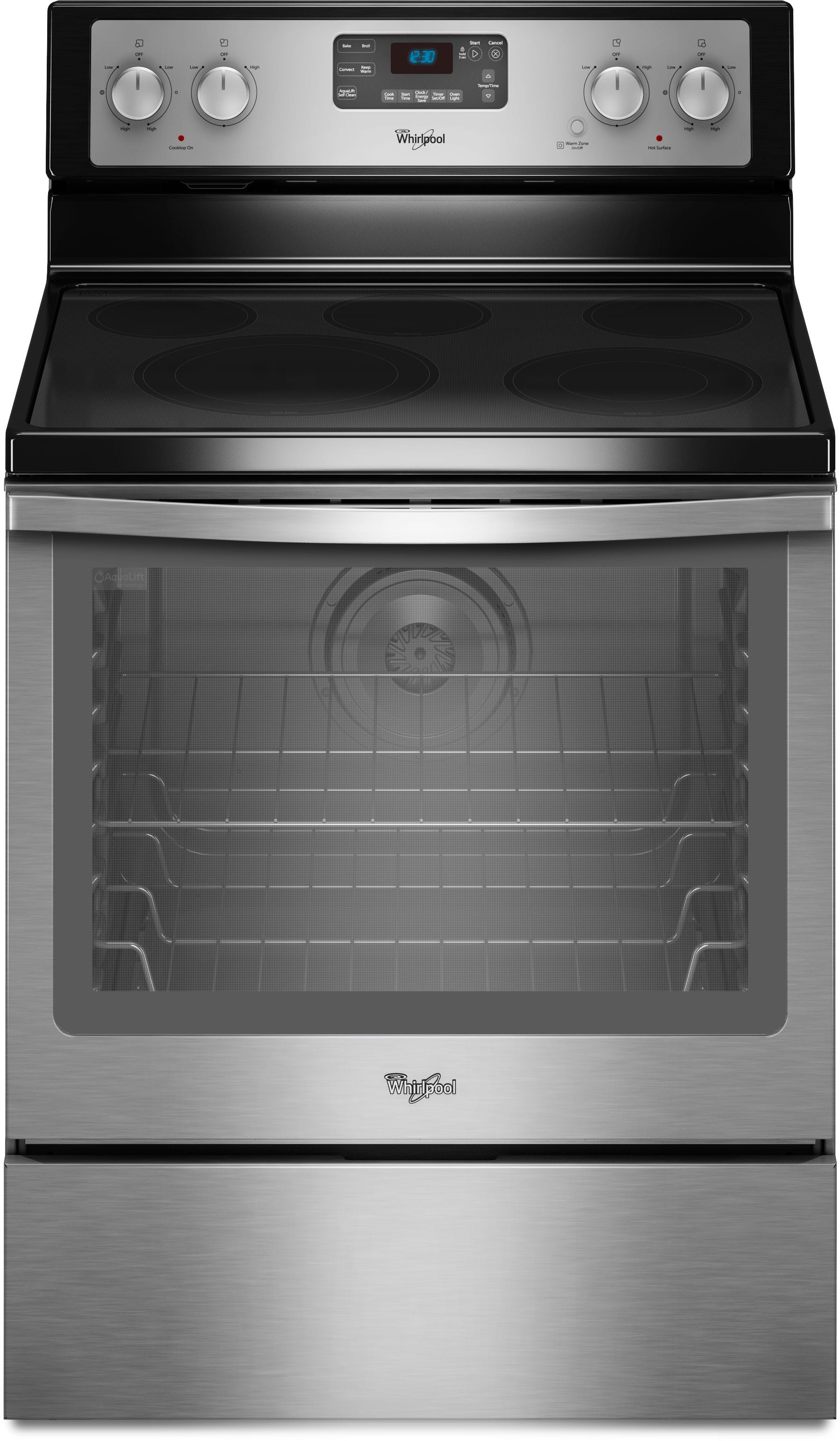 Whirlpool Wfe540h0as 30 Inch Freestanding Smoothtop