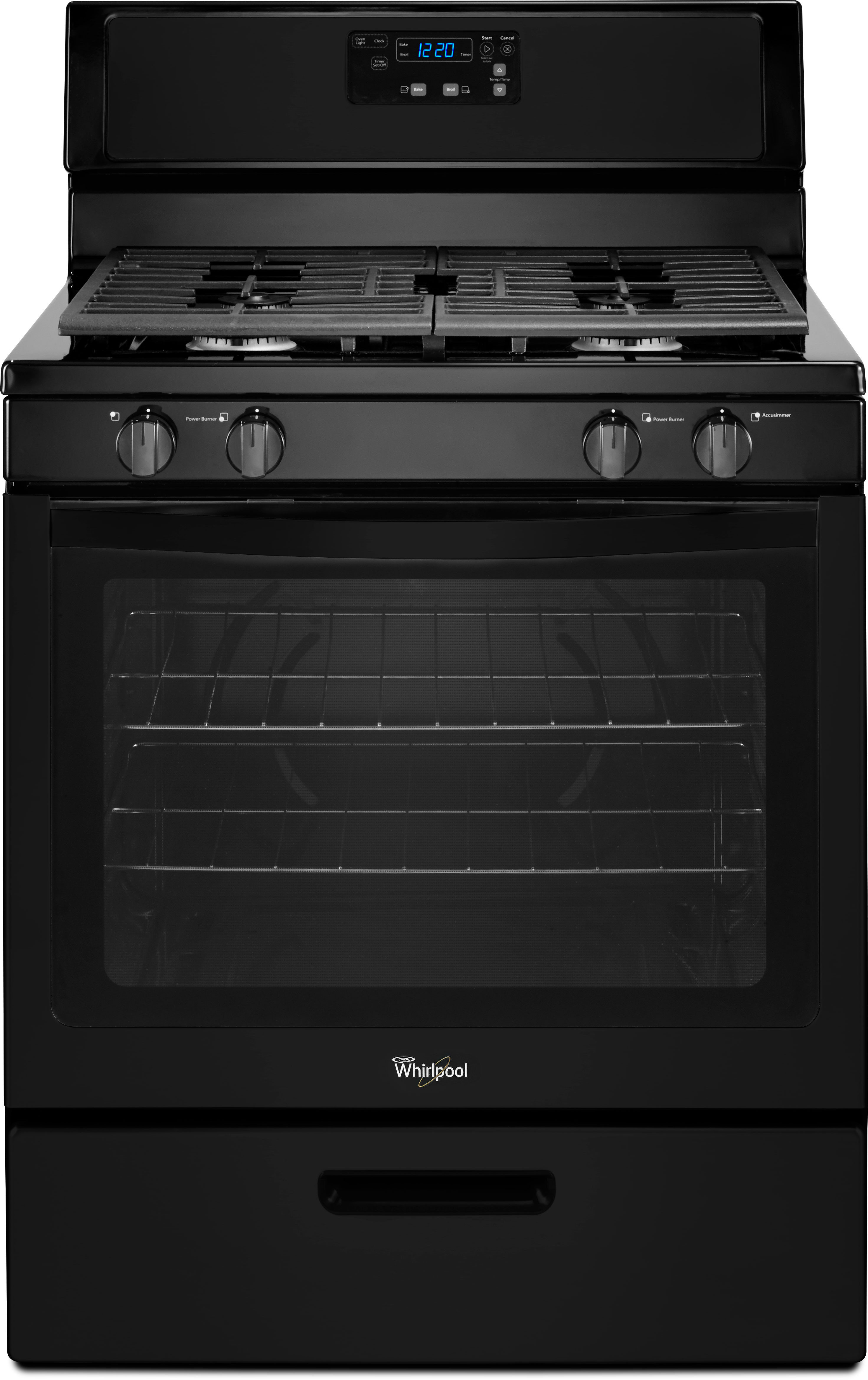 Whirlpool Wfg320m0bb 30 Inch Freestanding Gas Range With 5