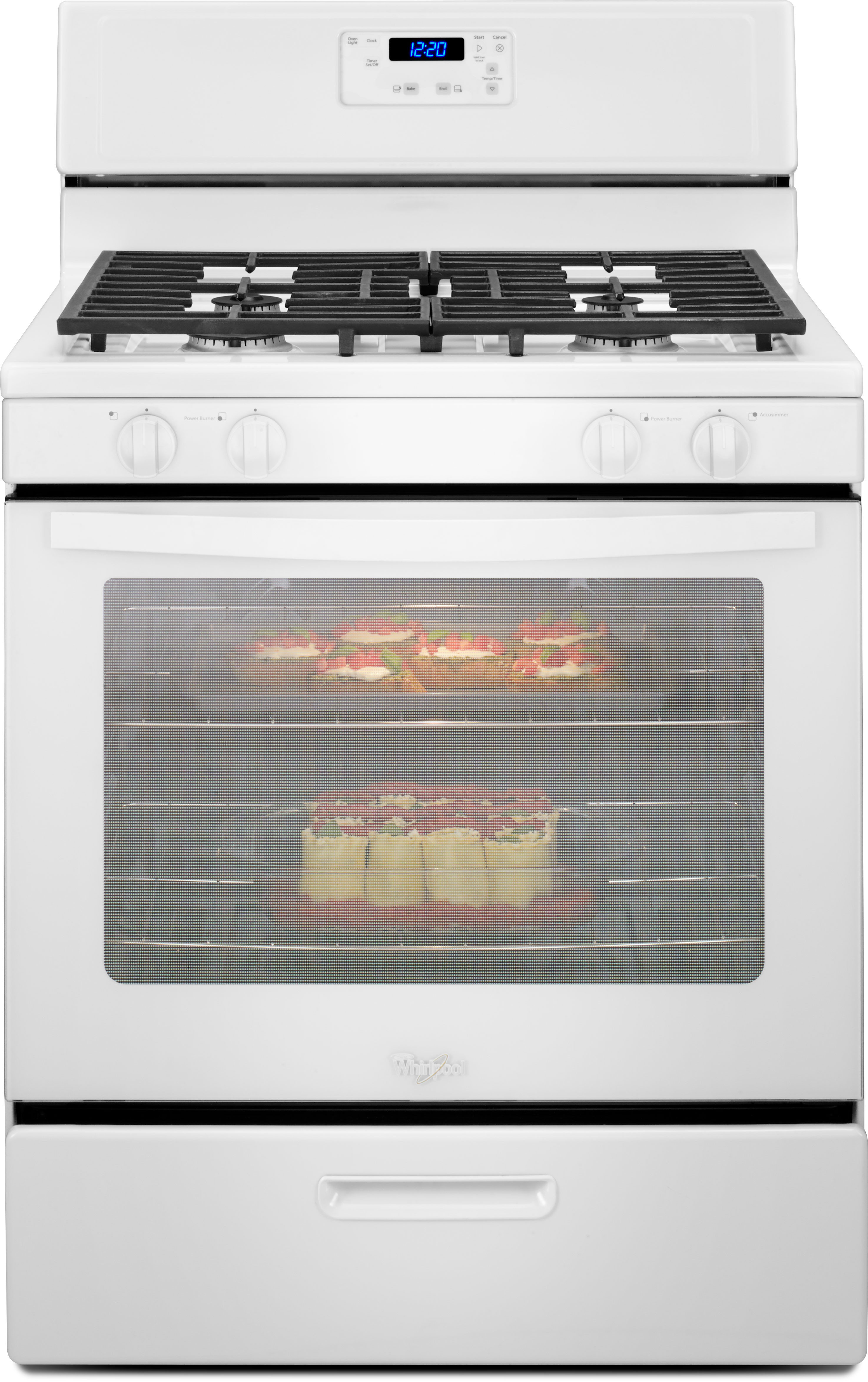 Whirlpool Wfg320m0bw 30 Inch Freestanding Gas Range With 5