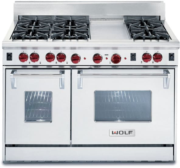 Wolf R486g 48 Inch Pro Style Gas Range With 6 Dual Brass