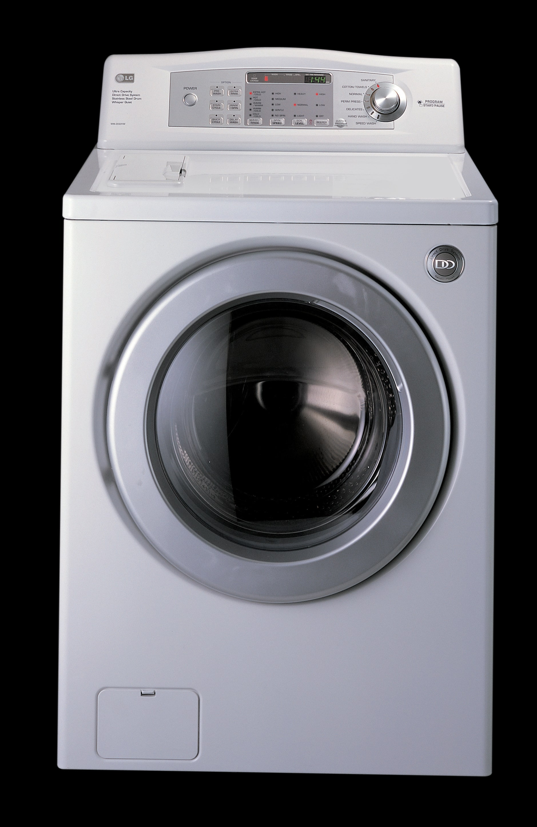 LG WM2032HW 27 Inch Front Load Washer w/ 3.72 Cu. Ft. Capacity, 7 Washing  Programs & 5 Temperature Levels: White/Silver Door Trim