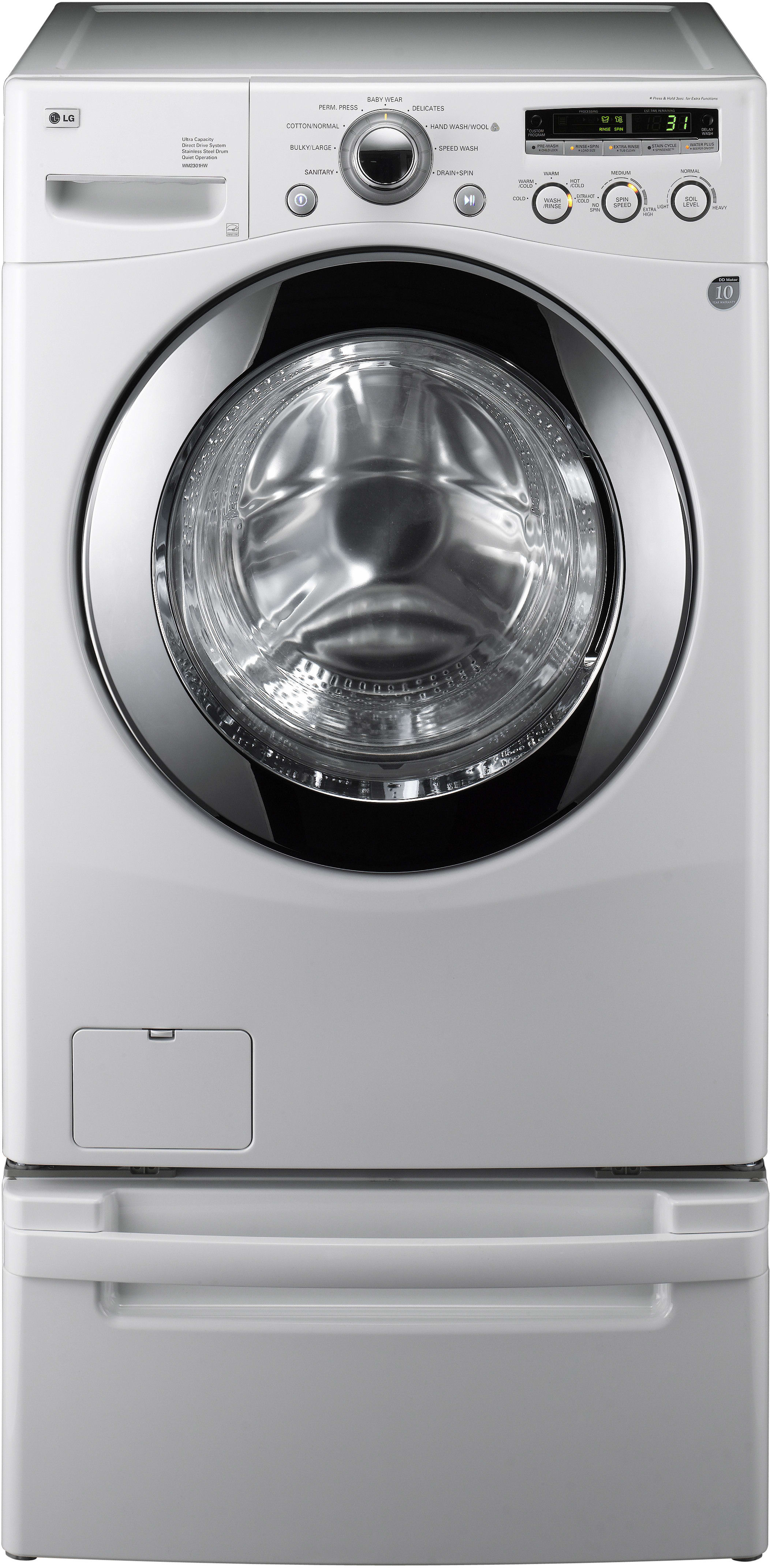 Lg Wm2301hw 27 Inch Front Load Washer With 3 6 Cu Ft