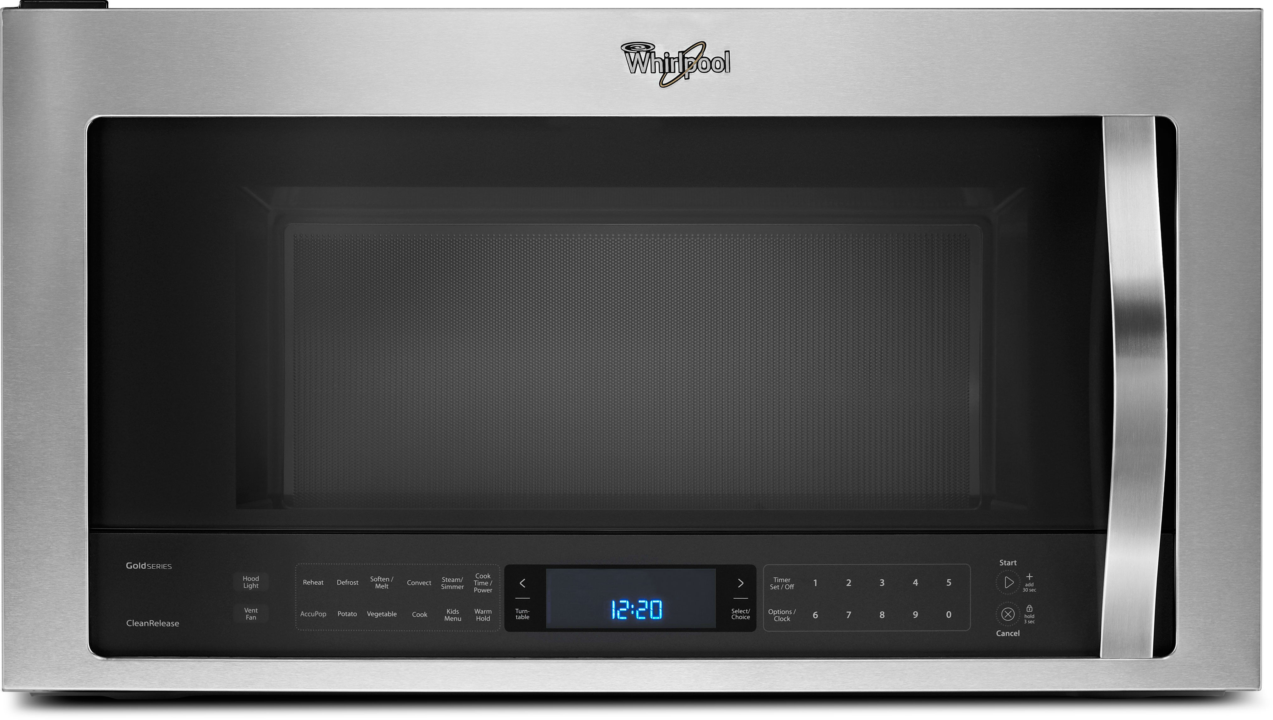 Whirlpool white ice otr microwave - Whirlpool Wmh76719c 1 9 Cu Ft Over The Range Microwave Oven With 400 Cfm Venting System True Convection Steam Sensor Cooking Steam Clean