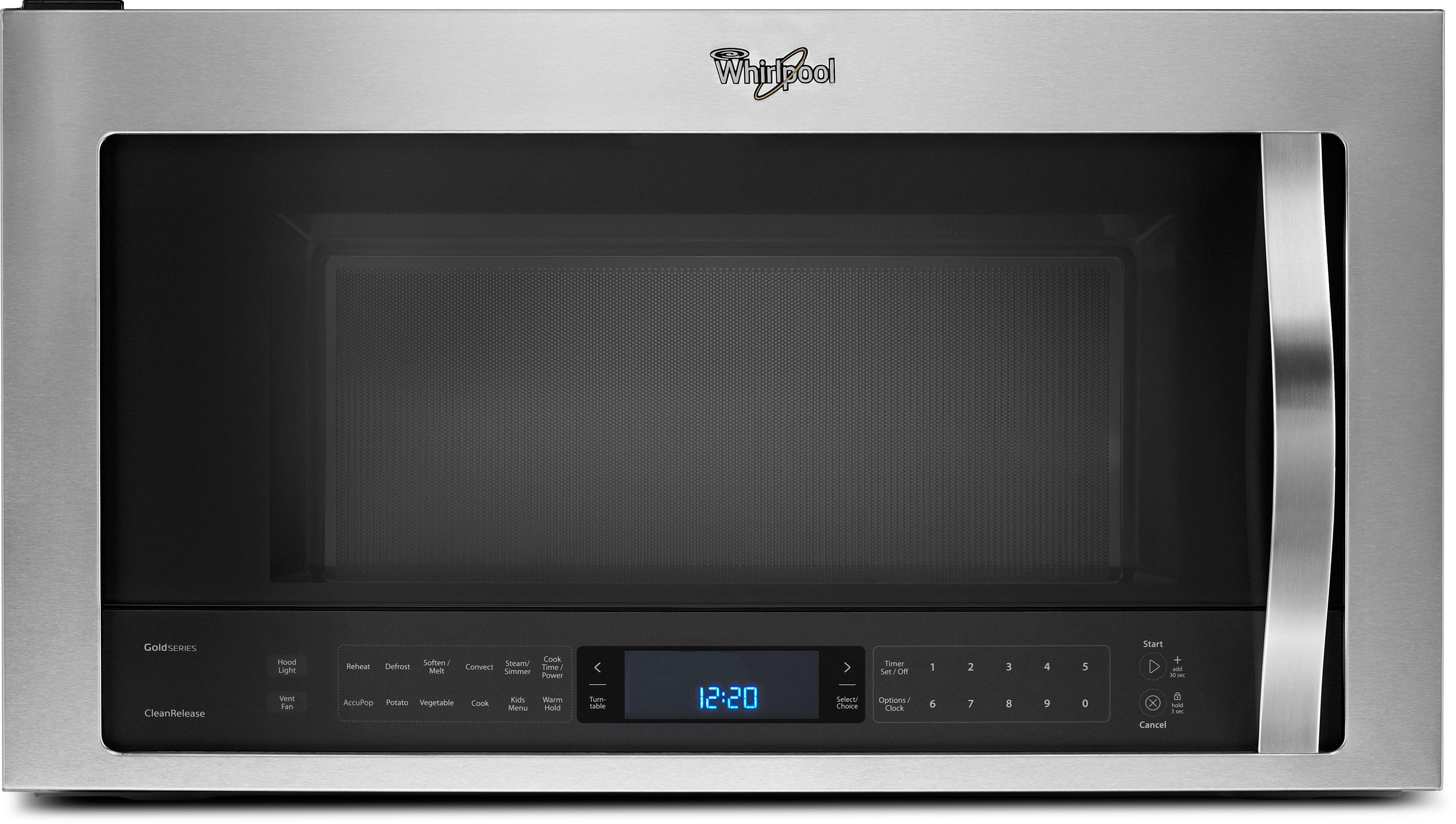 Whirlpool Wmh76719cs 1 9 Cu Ft Over The Range Microwave