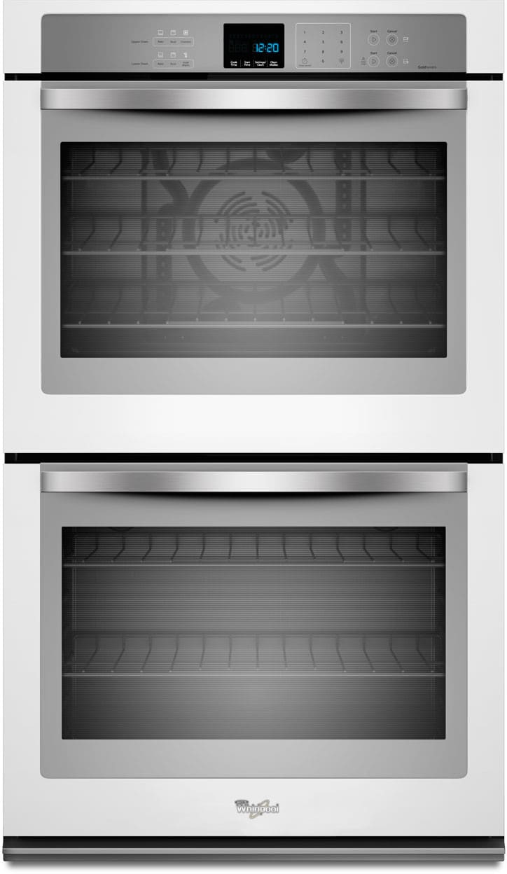 Whirlpool white ice double wall oven - Whirlpool Wod93ec0ah 30 Inch Double Electric Wall Oven With True Convection Temperature Sensor Precise Clean 10 0 Total Cu Ft