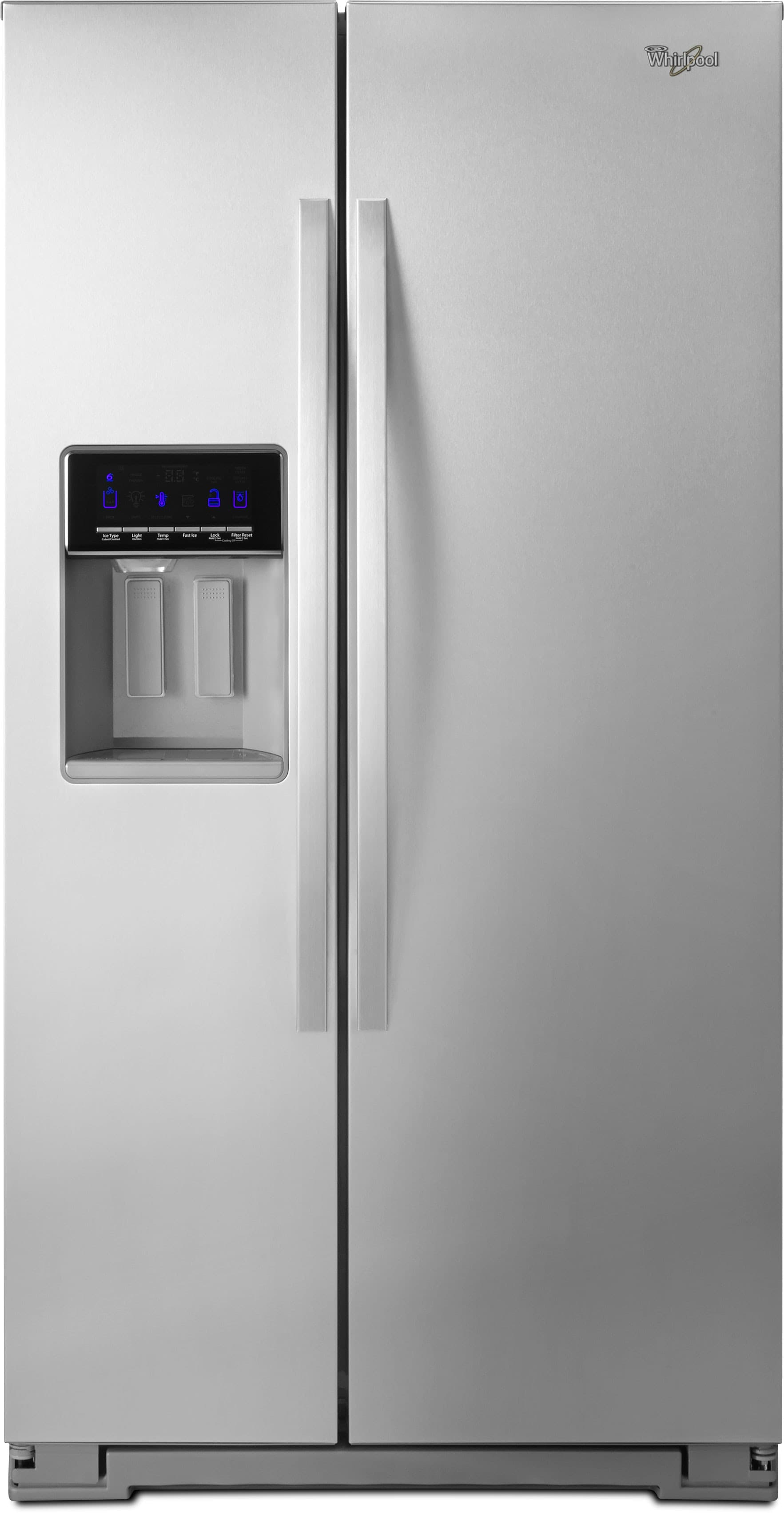 whirlpool side by side refrigerator white. whirlpool wrs576fidm 36 inch side-by-side refrigerator with 25.6 cu. ft. capacity, humidity controlled drawer, accuchill temperature management, side by white .