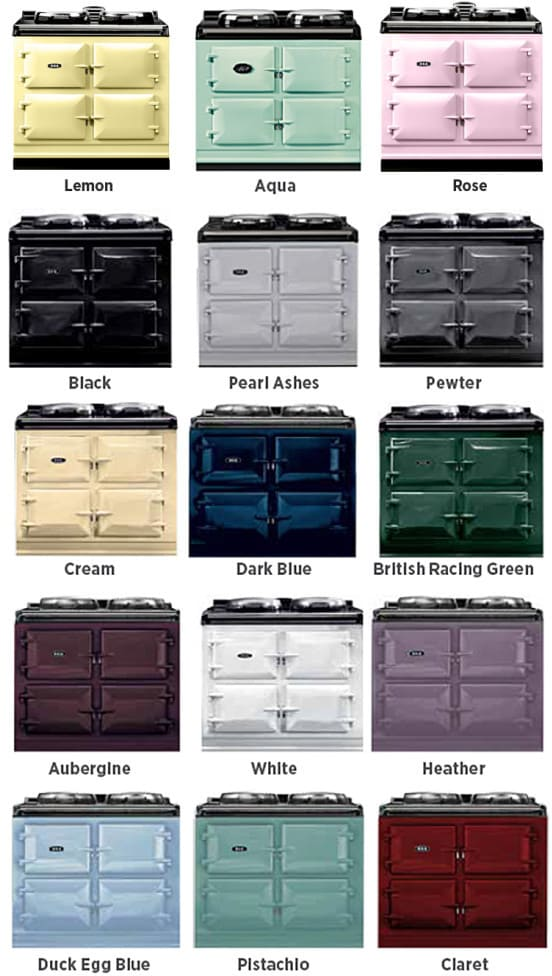 Cast Color Choices : Aga atc aqu inch cast iron electric range with boiler