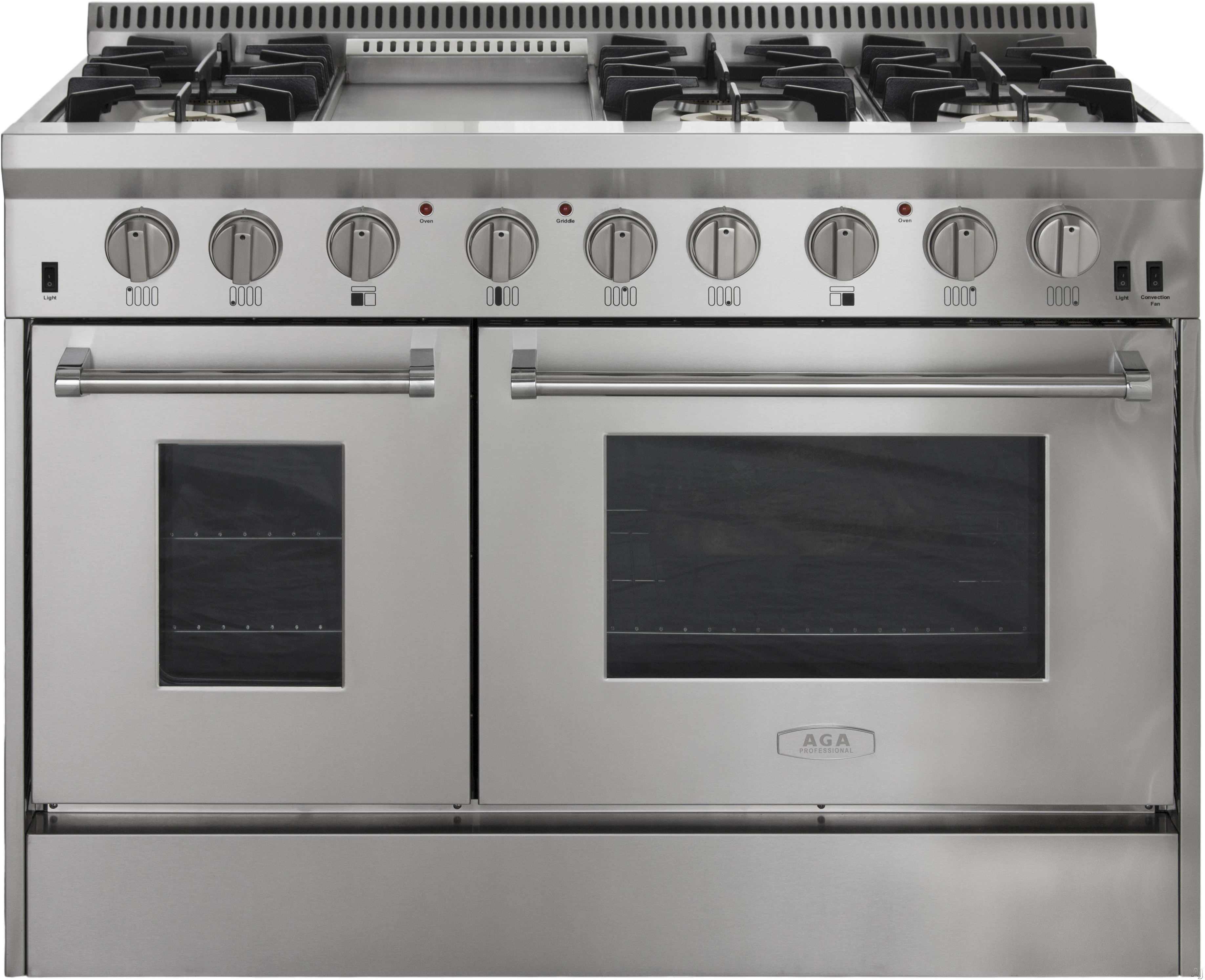 Aga Apro48dfss 48 Inch Freestanding Dual Fuel Range With