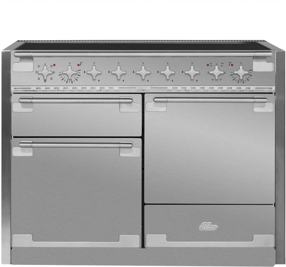 Aga Ael48inss 48 Inch Electric Induction Range With European This White Oven Has A Multifunction Easyclean Enamel Elise Stainless Steel