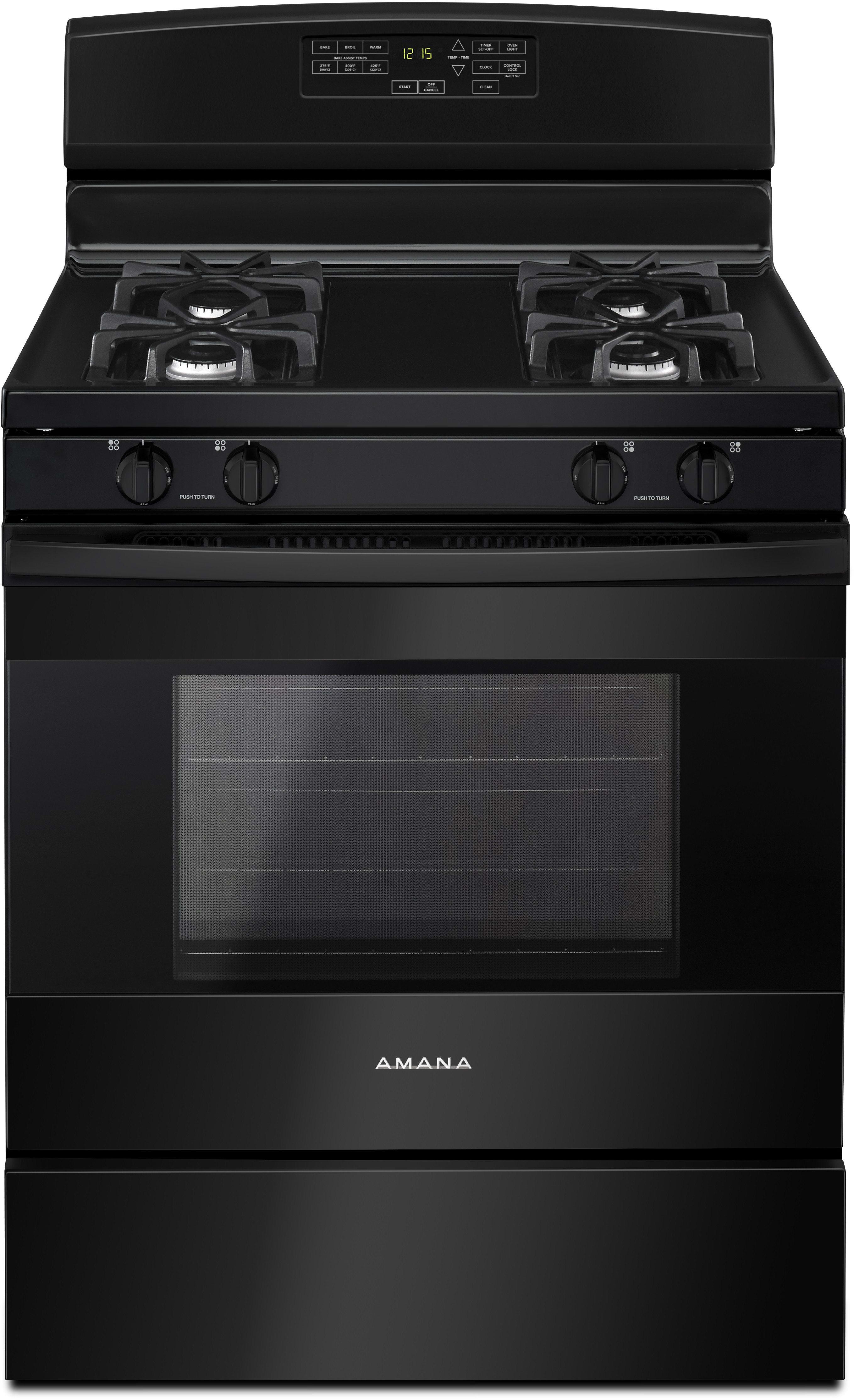 Amana Agr6603sfb 30 Inch Gas Range With Bake Assist