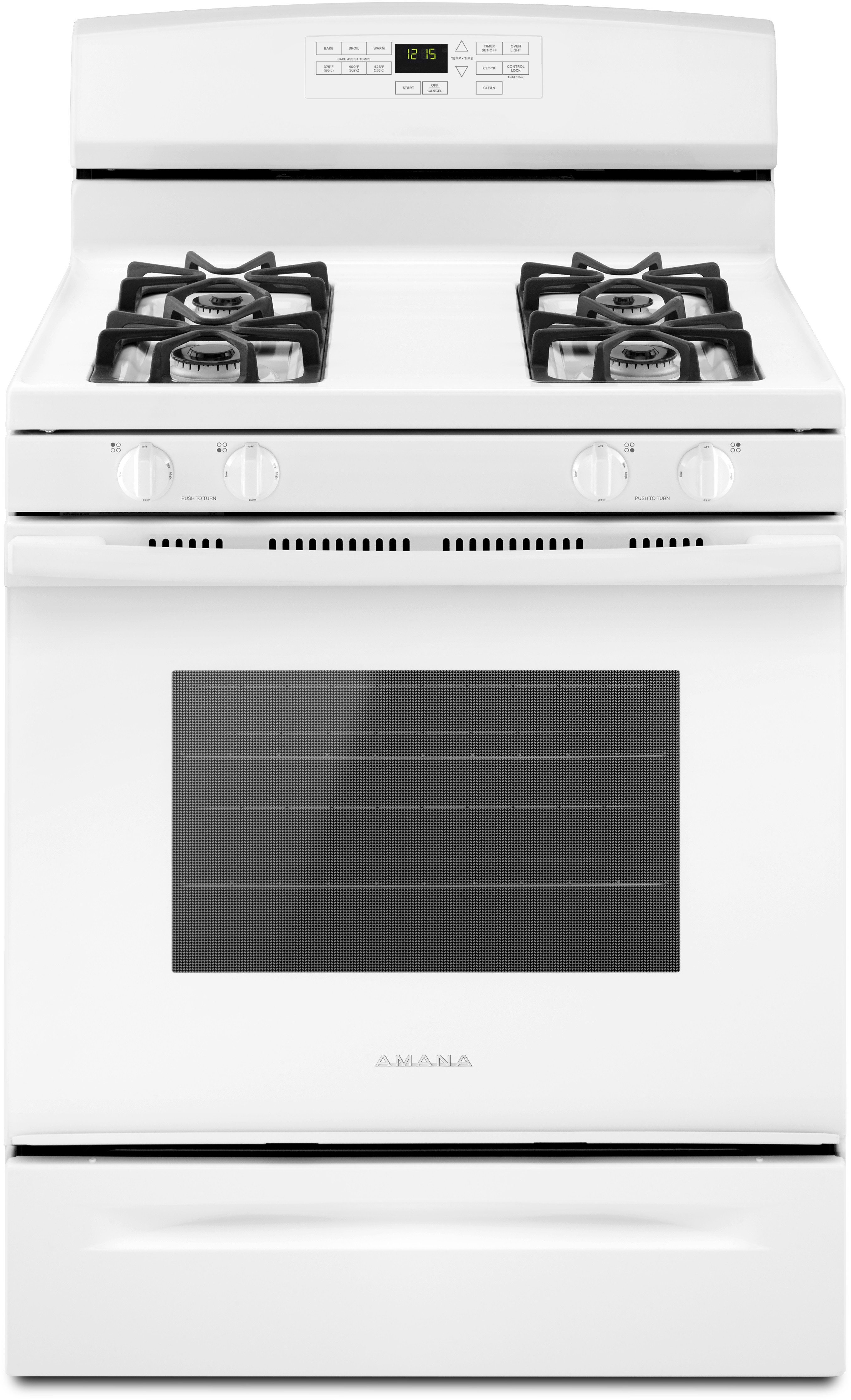 Amana AGR6603SFW 30 Inch Gas Range with Bake Assist Temperatures ...