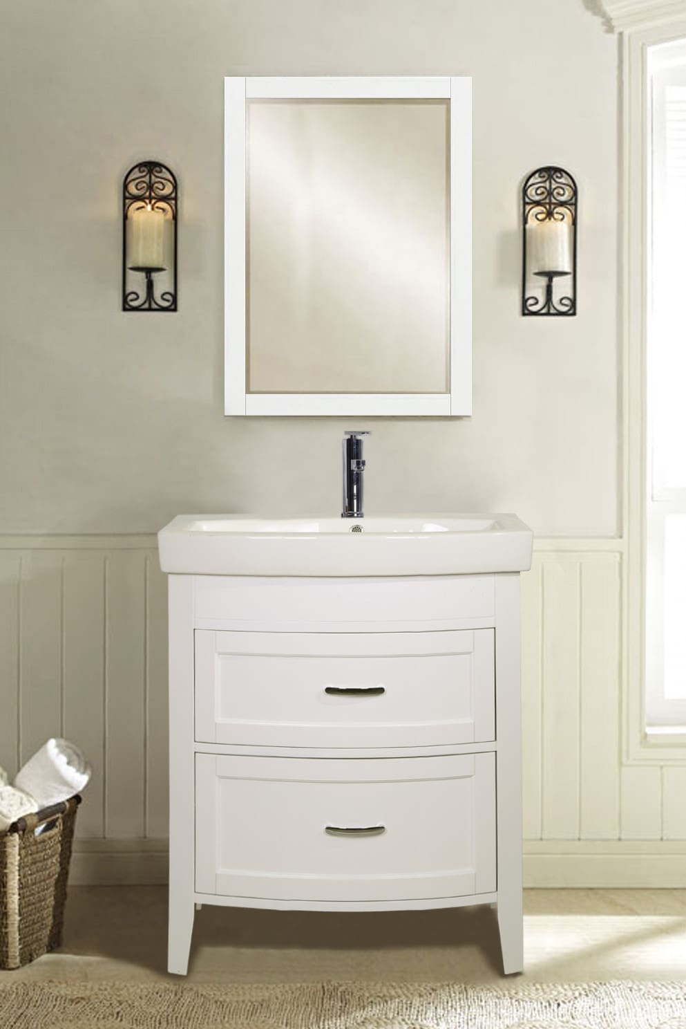 Empire Industries Madison 30 Bathroom Vanity empire industries a2802w 28 inch freestanding vanity with 2