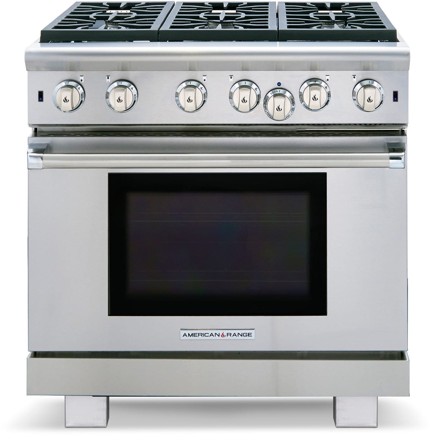Innovection Oven, 6 Open Burners, Continuous Grates, Infrared Broiler,  Quick Preheat and Island Trim Included: Liquid Propane