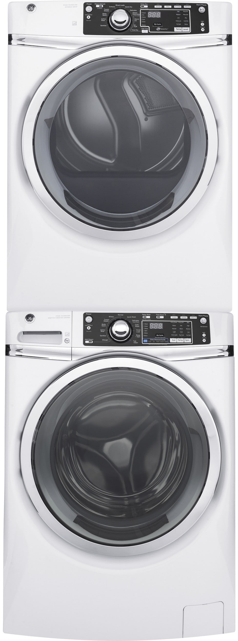 Ge Gewadrwg3 Stacked Washer Amp Dryer Set With Front Load