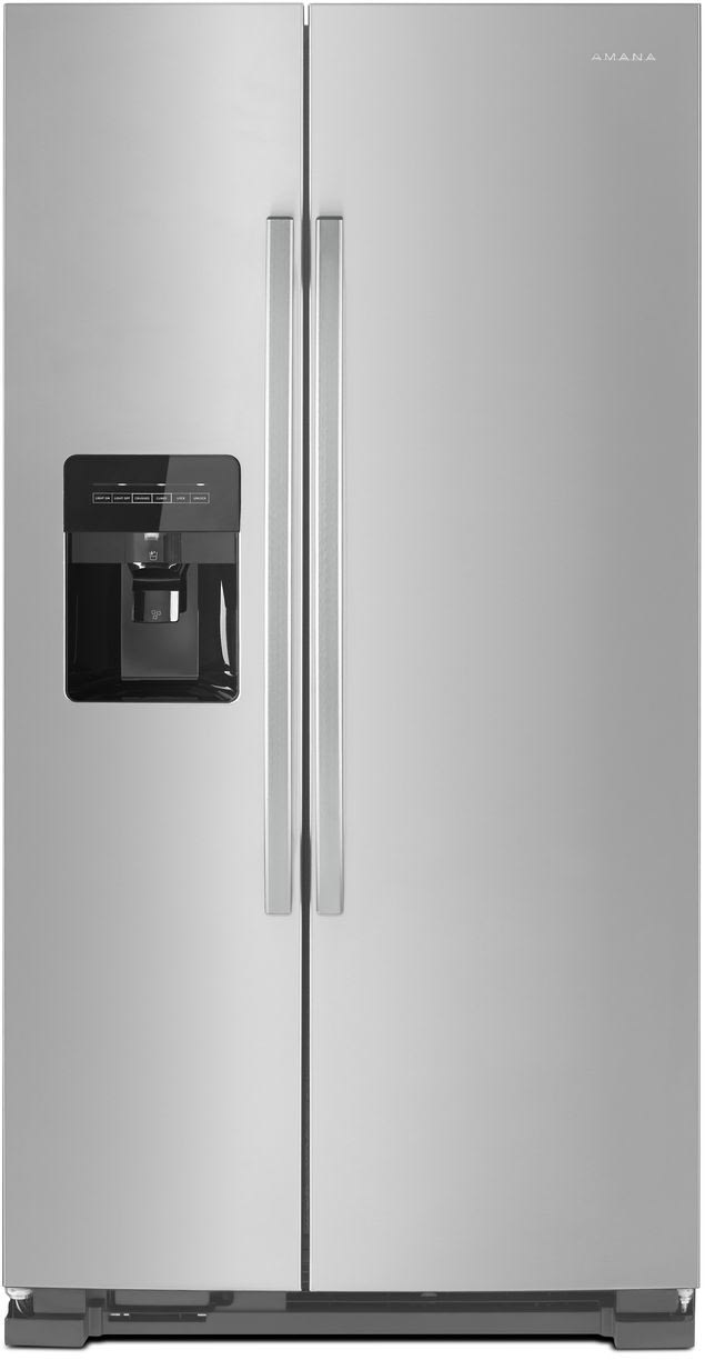 Amana Asi2175grs 33 Inch Side By Side Refrigerator With