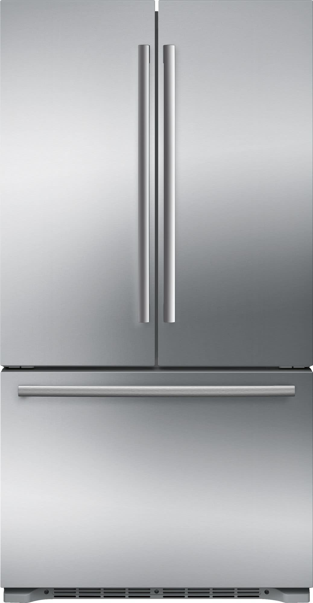 Bosch B21CT80SNS 36 Inch Counter Depth French Door Refrigerator With  Filtered Automatic Ice Maker, Retractable Half Shelf, Full Width Chiller  Drawer, ...