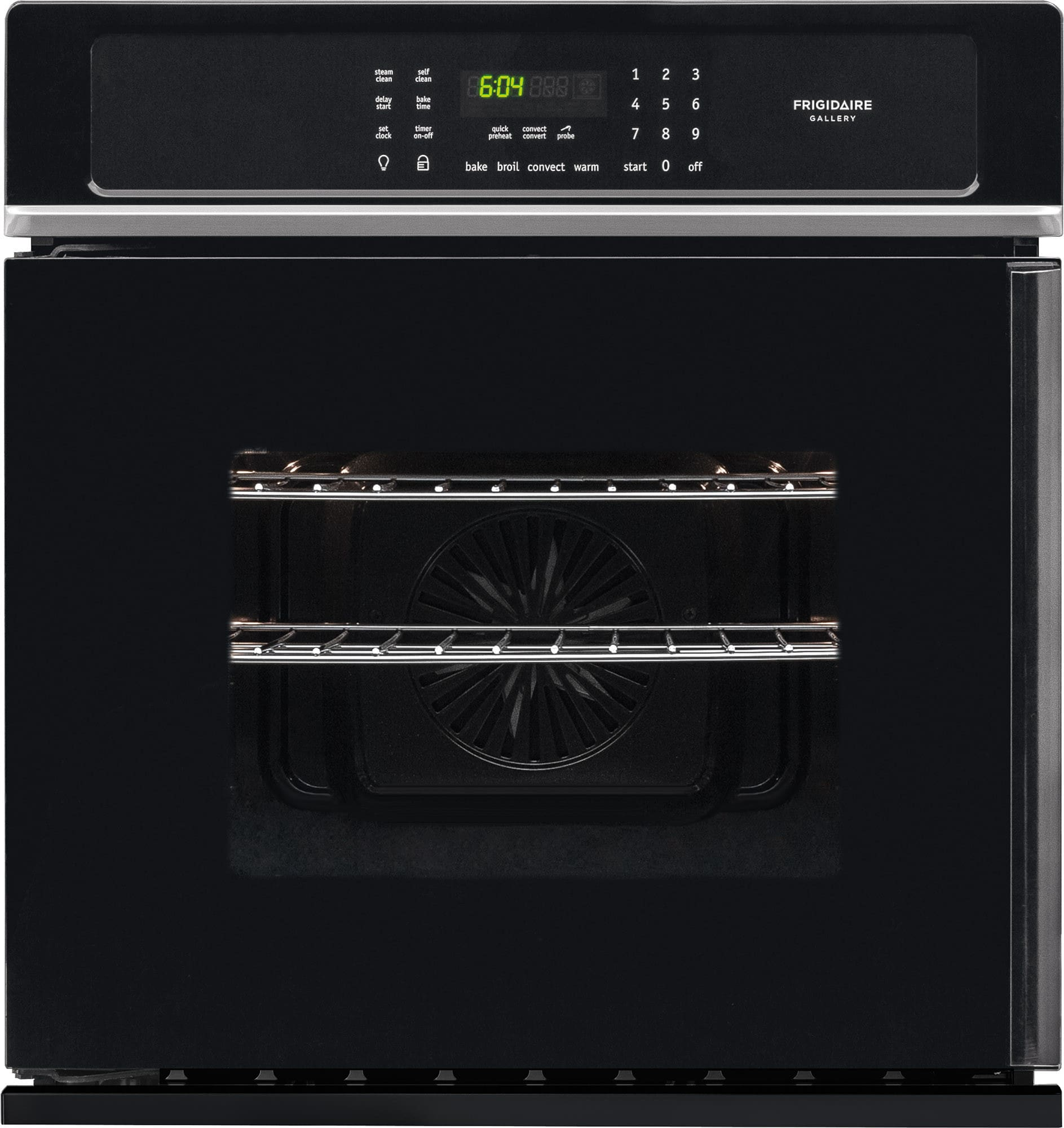 Frigidaire Fgew276spb 27 Inch Single Electric Wall Oven With 3 8 Cu Ft Capacity Side Swing Reversible Door True Convection Express Select Controls