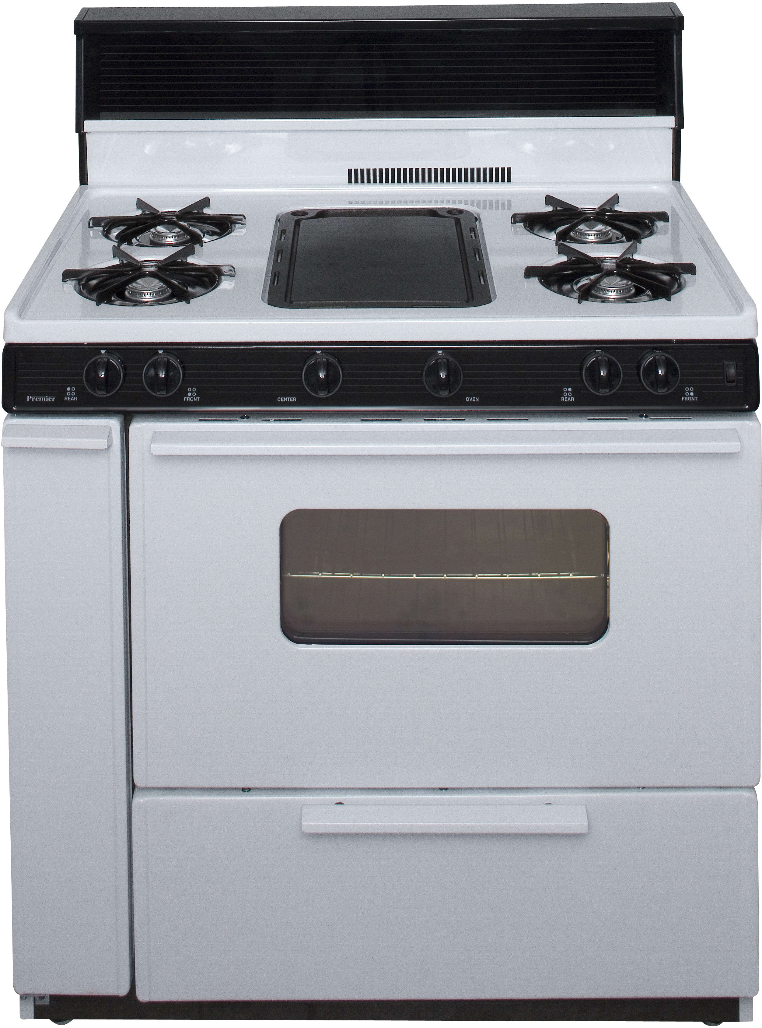 Premier Blk5s9wp 36 Inch Freestanding Gas Range With 5