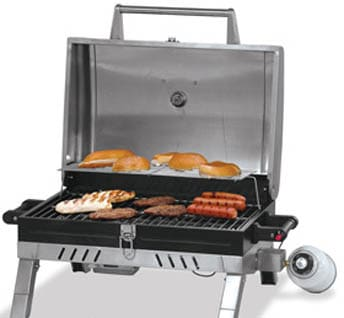 Blue Rhino GBT1022SP 29 Inch Portable Propane Gas Grill With 371 Sq. In.  Cooking Surface, 12,000Total BTUs, Stainless Steel Cooking Grid And Push  Button ...