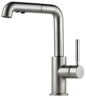 Brizo 63220lfss Single Lever Pull Out Kitchen Faucet With Spray And
