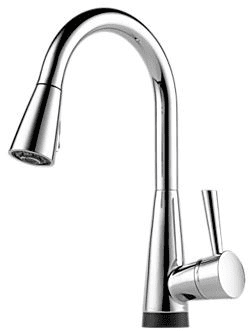 Brizo 64070LF Single Lever Pull-Down Kitchen Faucet with ...