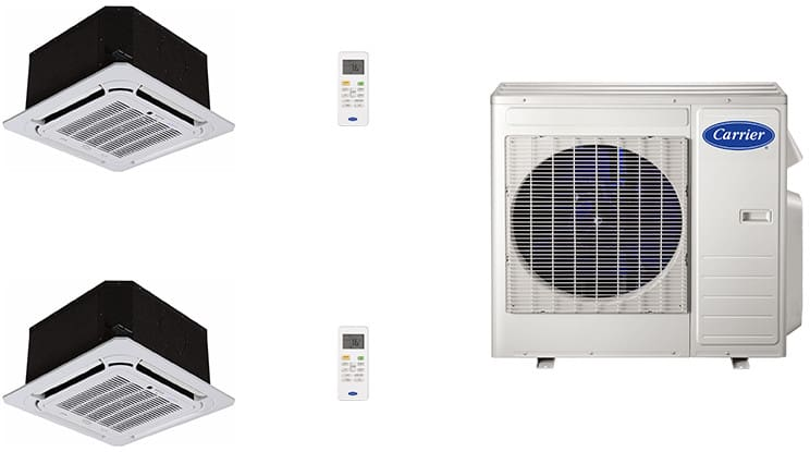 Carrier Ca18k7 2 Room Mini Split Air Conditioning System