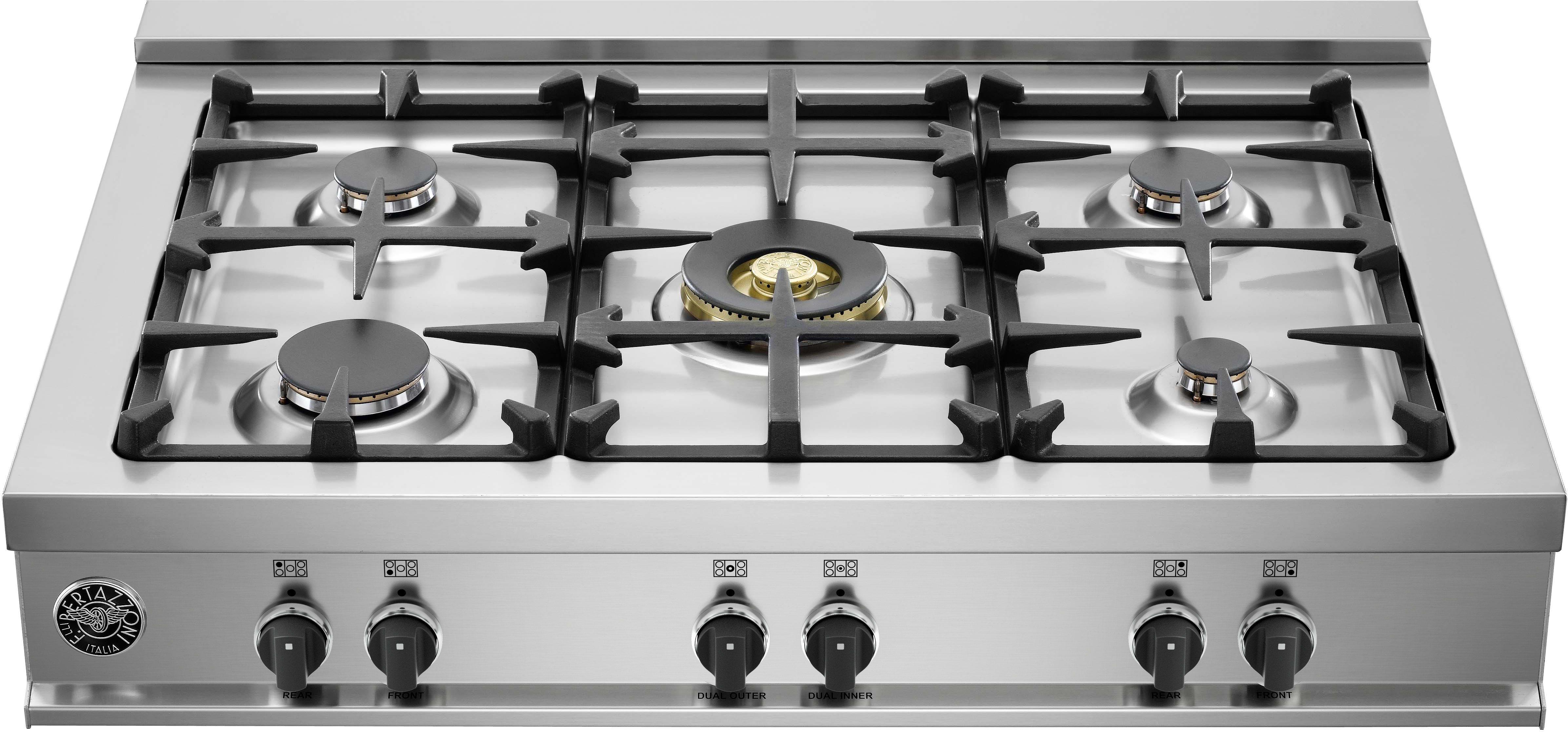 bertazzoni cb36m500x 36 inch gas rangetop with 5 sealed burn