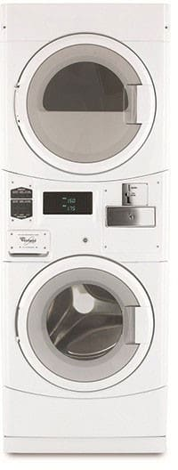 Whirlpool Cgt8000xq 27 Inch Stacked Commercial Washer Gas