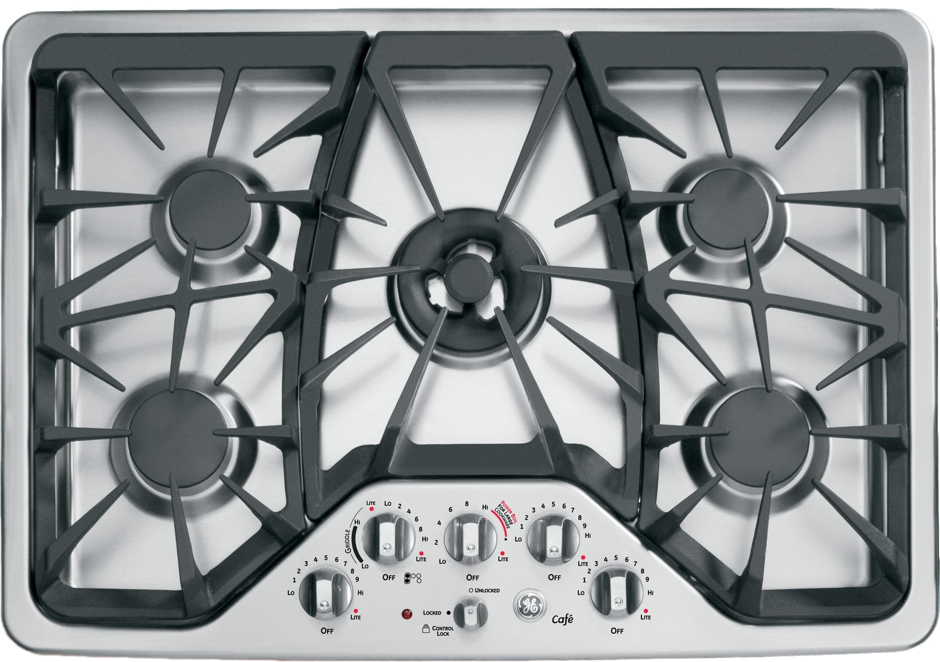 Ge Cgp350setss 30 Inch Gas Cooktop With 5 Sealed Burners