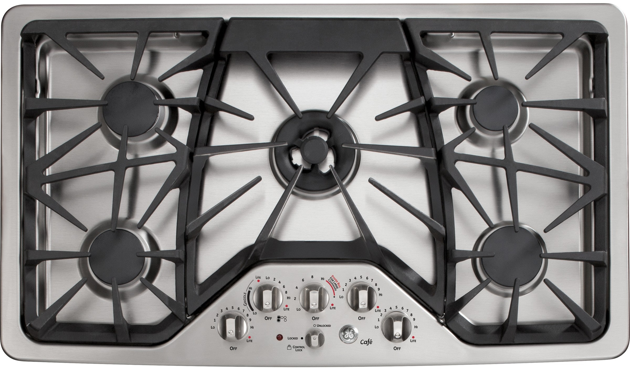 Ge Cgp650setss 36 Inch Gas Cooktop With Griddle Accessory